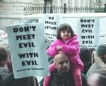 Peace Vigil - Downing Street - 18/09/01 Picture