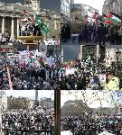 Trafalgar Square Full - pictures from palestine demo