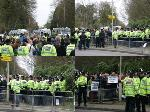 Northwood HQ : pics from pen and march back to tube