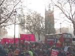 marching near parliament square