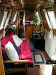 The (rather lush) interior of one of the boats.