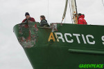 Damage to the Arctic Sunrise