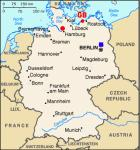 map of Germany and G8 location in 2007