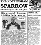 Front page extract from The Nottingham Sparrow no. 2 (May issue)