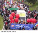 The head of the march