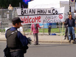 brian's welcome for mandela