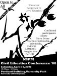 Civil Liberties Conference Poster