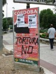 PRO-BULLFIGHT POSTERS DESTROYED (Spain)