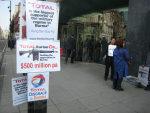 Earlier 33 Cavendish Square Protest at Total HQ