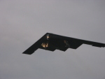 B2 Stealth bomber flying into RAF Fairford