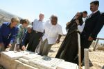 Abdallah with the Elders at a grave of a Bil'in resident shot by Israeli forces