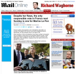 Daily Mail supporting the National Front