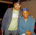 Robert H. King of the Angola 3 and Hamja Ahsan in London.