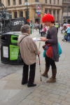 More leafleting - about the NATO Summit and Barclays' arms investments