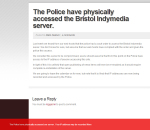 The Police have accessed the Bristol Indymedia server