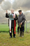 Priest blesses Glin hare coursing venue in Co. limerick, Ireland