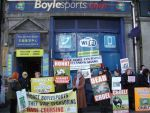 Anti-hare coursing protest at Boylesports office in Dublin