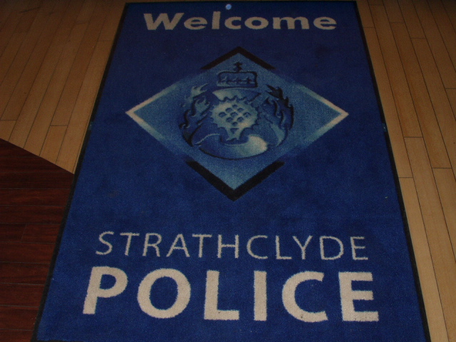 Strathclyde police roll out the red (er, blue) carpet for the two arrested!