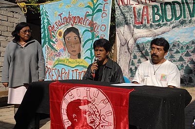 The press conference took place in Oaxaca City.