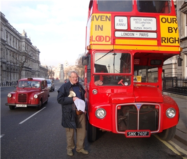 Battle Bus London Maurice Kirk Fight Against Human Rights Violations