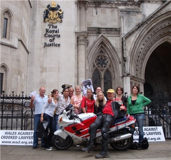 Kirk Maurice Motorbike Royal Courts of Justice London England