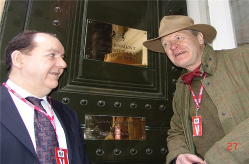 Maurice Kirk (Right) Whips Office London