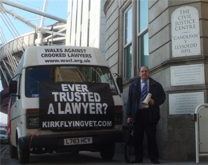 Decorated Wales Against Crooked Lawyers Campaign Vehicle